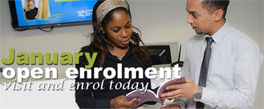 January open enrolment - visit and enrol today