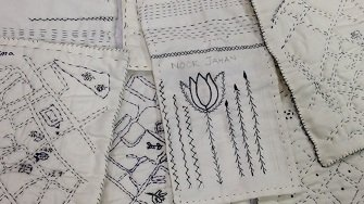 WAES blog: Tea and Textiles - quilt making with ESOL learners!