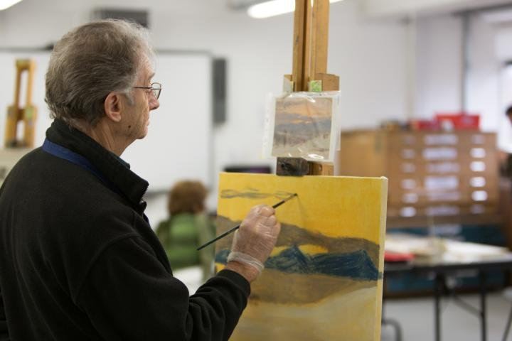 Learners have access to fully-equipped art studio with easels at WAES