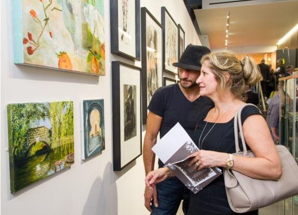 Watercolour and oil paintings on display at the 2013 summer arts exhibition
