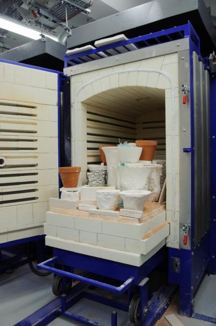 The large truck casting kiln at the Lisson Grove glass workshop