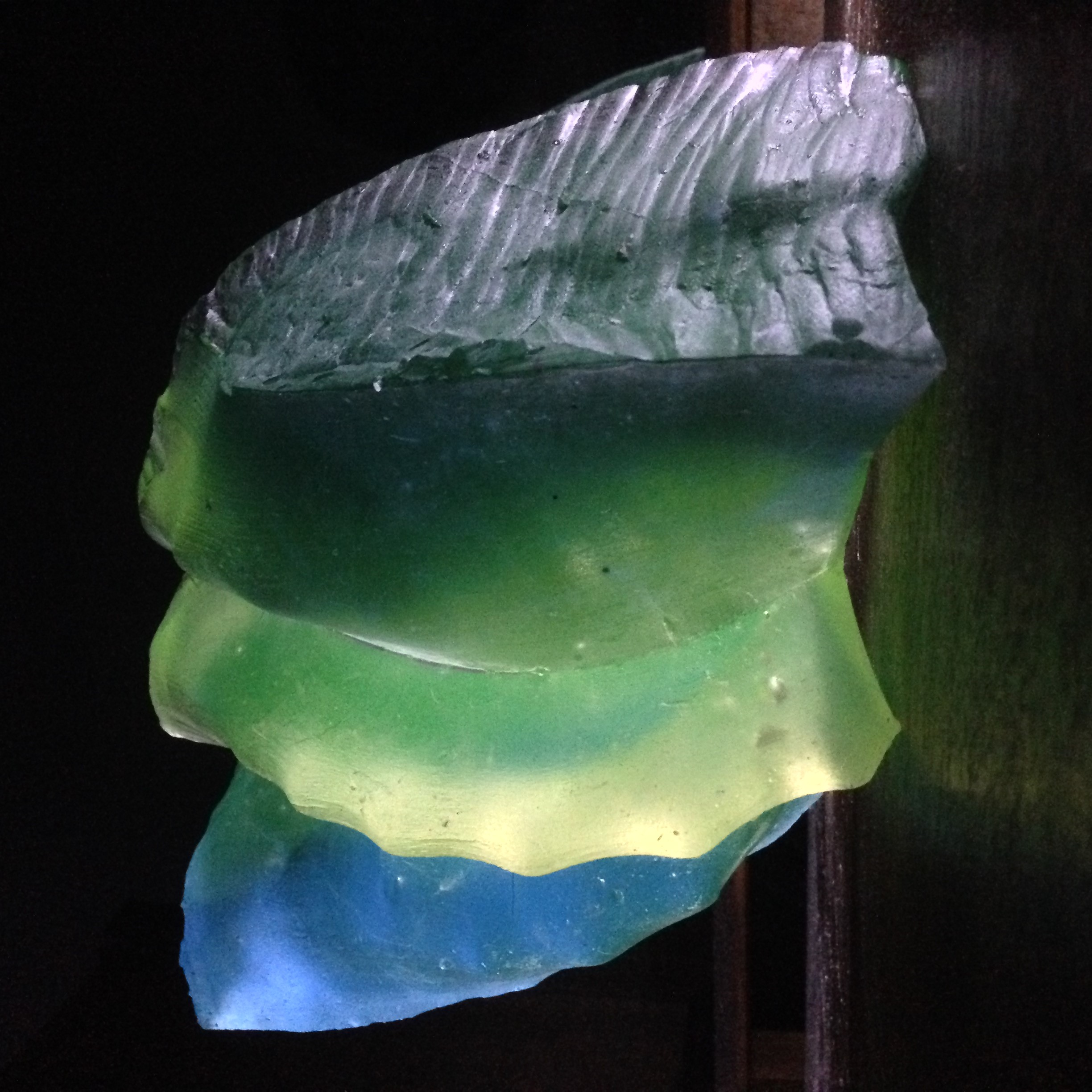 One of the fantastic pieces created by a WAES glass-making student as a coloured shell.