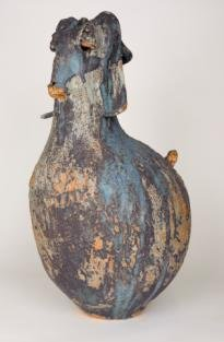 'Goat vase', featured ceramics piece by student Maria Do Carmo Riezzo