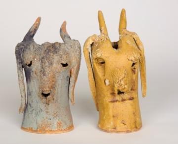 Ceramic vases by WAES student Maria Do Carmo Riezzo
